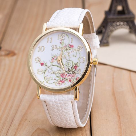 Korea Style Floral Print Watch