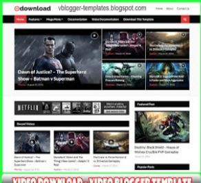 Best Free Blogger Video Template Download In 2020 Video Template Blogger Templates Blogspot Template