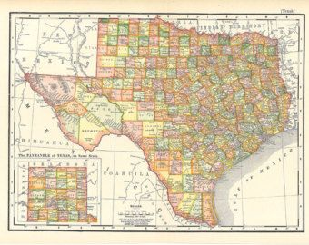 1826 MAP of MEXICO America California Texas antique home decor