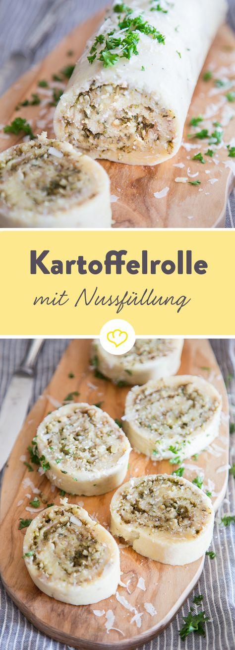 Kartoffelklöße können einpacken. Gefüllt mit Petersilie und zweierlei Nüssen, macht sich diese Kartoffelbeilage neben Fleisch, Fisch und Co. richtig gut.