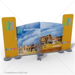 Impact Badlands 20ft Fabric Outdoor Trade Show Display Outdoor Fabric Display Display