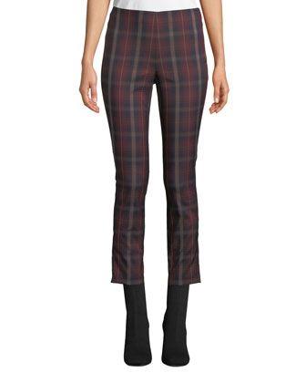 Rag Bone Simone Cropped Skinny Plaid Trousers Cropped Denim Pants Rag Bone Plaid