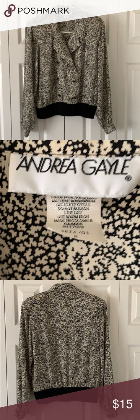 Andrea Gayle size 8 blouse Size 8 womens Andrea Gayle button up blouse. andrea gayle Tops Blouses