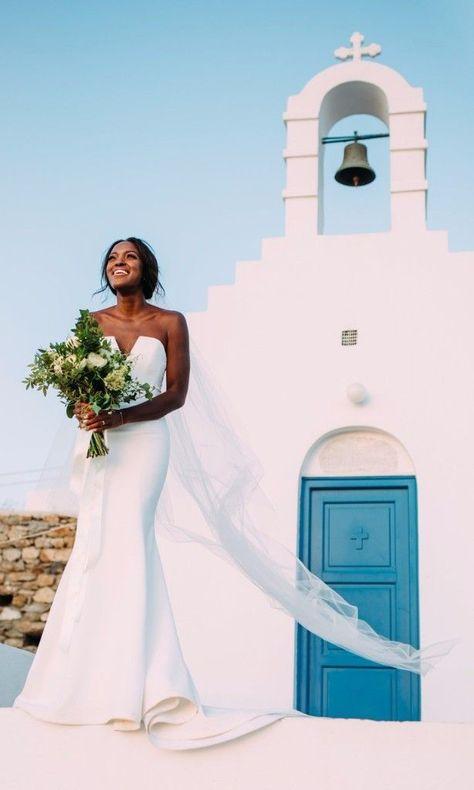 8b309c2c6476 Beautiful Wedding Dresses Inspiration 2017 2018   Actress Krys Marshall s  Intimate Wedding in Mykonos