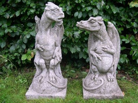 Funny Dragon Statues For Garden Fantasy Characters