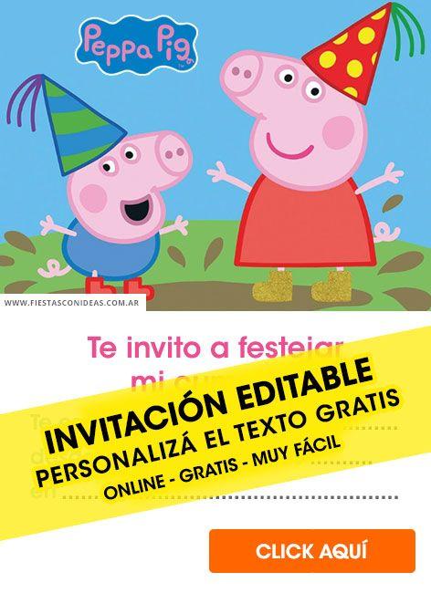 15 Tarjetas De Cumpleaños De Peppa Pig Gratis Para