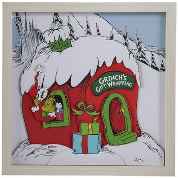 Dr Seuss Grinch S Gift Wrapping Framed Wall Decor Hobby Lobby 205405204 Frames On Wall Gift Wrapping Fabric Bolts