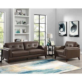 Fine Atmore 2 Piece Top Grain Leather Set Sofa Loveseat Unemploymentrelief Wooden Chair Designs For Living Room Unemploymentrelieforg