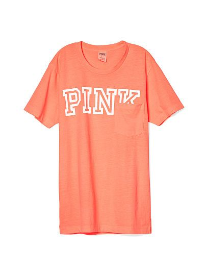 Long Sleeve Campus Pocket Tee - PINK - Victoria's Secret | Pink by ...