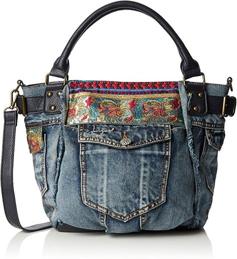 100% autentico 9834a 2b70e Desigual Bag Mcbee Ethnic Deluxe, Blue Shades: Handbags ...