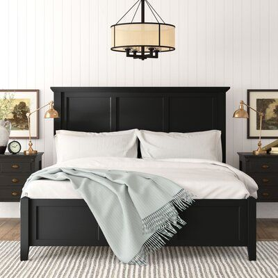 Get inspired by Room Ideas gallery by Birch Lane. Birch Lane's Shop the Look allows you to browse photos from interior designers for inspiration and ideas for your home. Black Bedding, Bedroom Furniture Beds, Bedroom Inspirations, Master Bedrooms Decor, Classic Bedroom, Black Bedroom Furniture, Black Master Bedroom, Black Headboard Bedroom, Remodel Bedroom