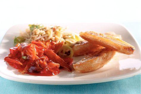 Kijk wat een lekker recept op de test-site van Allerhande! Nasi met gebakken banaan en makreel