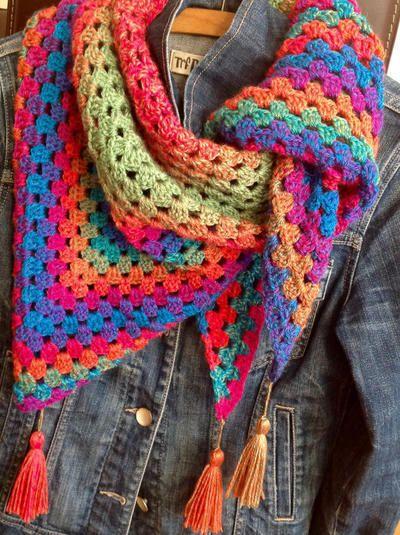 Patrón/ Tutorial CHAL CALADO crochet. | donpatron | Patrones, Chal ...