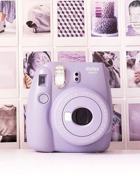 Mauve Polaroid camera - Instax Camera - ideas of Instax Camera. Trending Instax Camera for sales. Polaroid Instax Mini, Fujifilm Instax Mini, Instax Mini 9, Instax Mini Ideas, Fujifilm Polaroid, Lavender Aesthetic, Purple Aesthetic, Aesthetic Girl, Camera Png