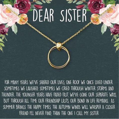 Sisters Necklace: Sister Gift, Gift for Sister, Sister Birthday Gift, Big Sister Gift, Giggles, Secrets, 2 Linked Circles – Dear Ava