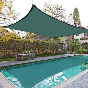 16x16 Square Sun Shade Sail Uv Blocking Outdoor Patio Lawn Garden Canopy Cover Walmart Com In 2020 Pool Shade Shade Sails Patio Backyard Shade