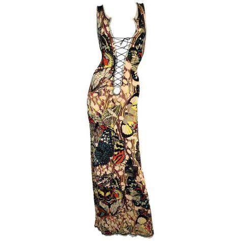 Hussein Chalayan, Jean Paul Gaultier Parfum, Runway Fashion, High Fashion, Butterfly Print Dress, Couture Vintage, Madonna, Designer Evening Dresses, Corset
