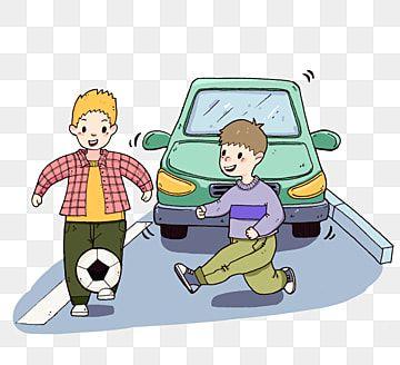 Jugando Al Futbol En La Carretera Nino Pequeno De Dibujos Animados Seguro Cruzando La Calle Seguridad Del Trafico Jugando Futbol Clipart Auto Verde Educacion Nino Jugando Futbol Ninos Jugando Dibujos De