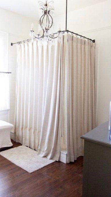 Natural Linen Shower Curtain 45 Linen Fabric Choices Bathroom