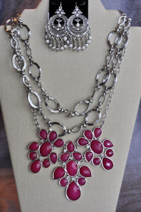 Premier Designs Jewelry - Angel Mist & Sleek Links necklaces with Claire earrings www.laurasmith.mypremierdesigns.com, access code: bling