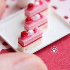 Maison de Poupées Miniature Plateau de Pana Cotta desserts