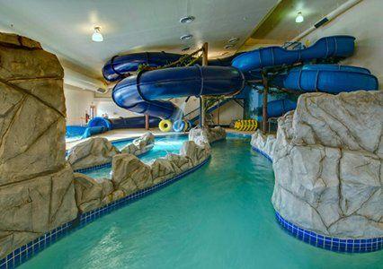 Indoor pool with waterslide  huge in home water slides :] | cool | Pinterest | Water slides and ...