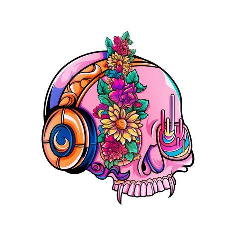 Spring skull.
