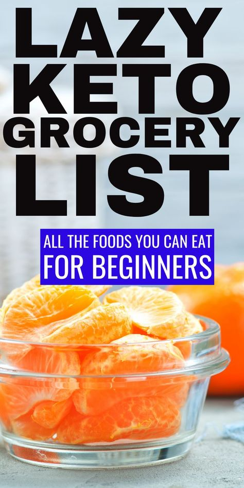 Lazy Keto Grocery List with keto food lists for beginners to help make keto shopping easier! This comprehensive low carb grocery with net carbs will help you understand all the foods you can eat on the keto diet for fat loss. This easy keto shopping Ketogenic Diet Meal Plan, Ketogenic Diet For Beginners, Keto Diet For Beginners, Diet Meal Plans, Ketogenic Recipes, Diet Recipes, Meal Prep, Diet Menu, Easy Recipes