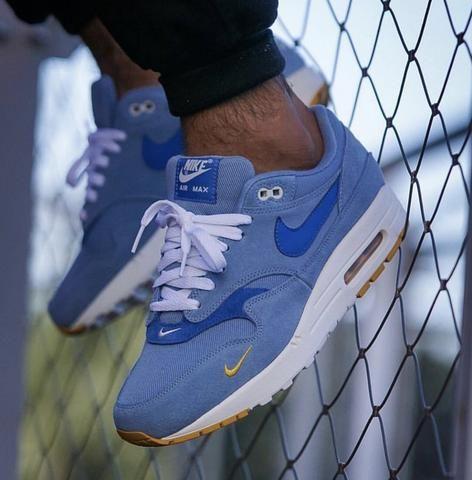NIKE AIR MAX 1 BLUE YELLOW | Nike air max, Nike, Nike air