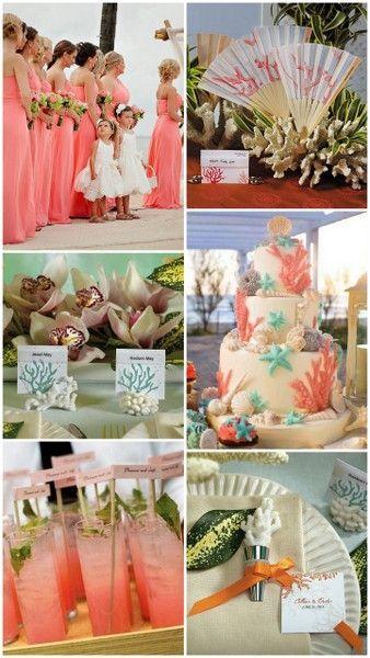 Coral Beach Wedding Ideas From Hotref Com Beachwedding Beach