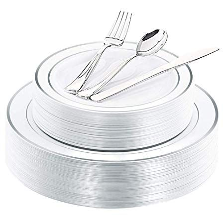 Bought 2 Sets Of These Plastic Silverware Tableware Set Plastic Plates