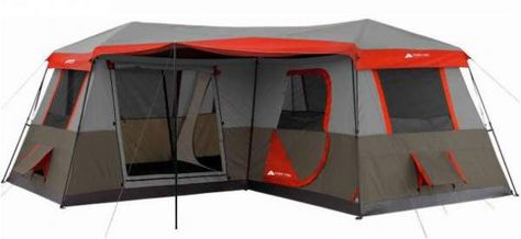 Coleman 10 Person Dark Room Instant Cabin Tent with Rainfly