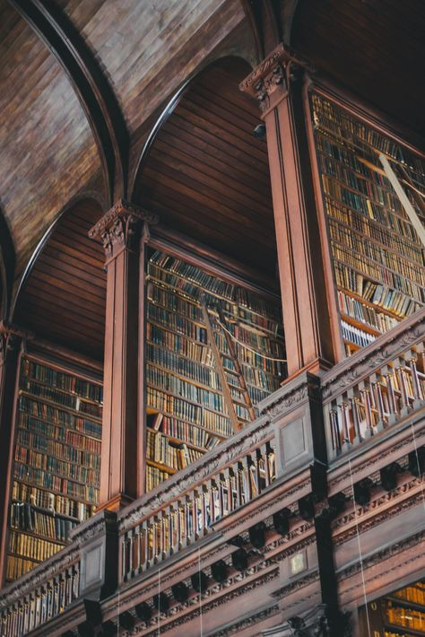 Trinity College Library, Dublin, Ireland Because a beautiful library deserves to be loved Beautiful Library, Dream Library, Grand Library, College Library, Dublin Library, Home Libraries, Ireland Travel, Oh The Places You'll Go, Belle Photo