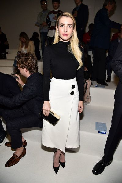 Emma Roberts attends BOSS Womenswear & Menswear - Front Row - September 2018 - New York Fashion Week.