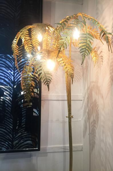 Gold Palm Leaf Floor Lamp Pre Order Gold Ceiling Light