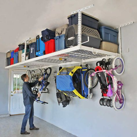 Personal Finance Discover SafeRacks Overhead Garage Storage Combo Kit Two 4 ft. x 8 ft. Racks Deluxe Hook Accessory Pack SafeRacks Overhead Garage Storage Combo Kit Two 4 ft. x 8 ft.