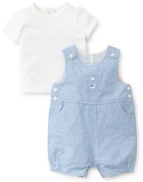 0244b96d33 Little Me Baby Boy's Two-Piece Striped Cotton Shortalls and Tee Set ...