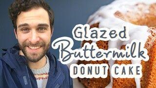 Glazed Buttermilk Donut Cake Recipe In 2020 Cake Donuts Recipes Buttermilk