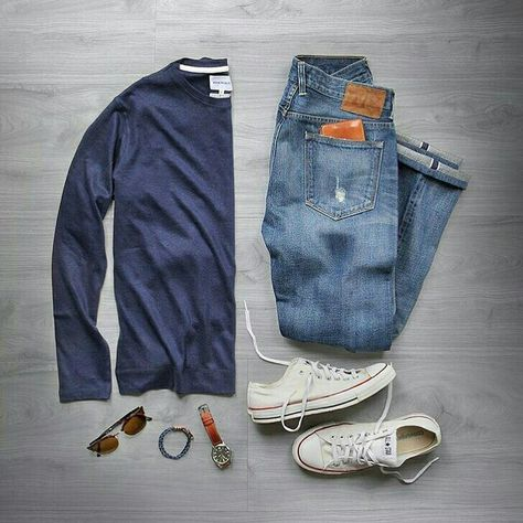 Absolutely love this casual weekend style! #menswear