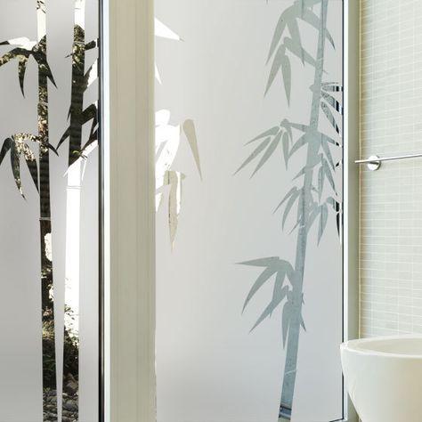 Sticker Occultant Pour Baie Vitree Branche De Bambou Sticker Vitre Bambou Decoration Interieure Et Exterieure