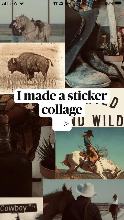 I made a sticker collage —>