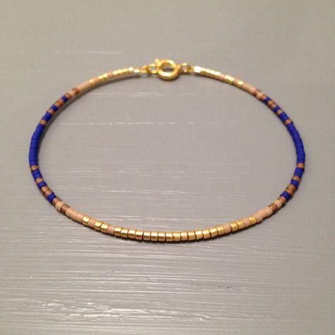 Kleines Armband einfach Armband blau von ToccoDiLustro auf Etsy