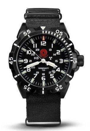 Praetorian Night Patrol Black PVD - Nato Strap - H3 Trigalight lighting: Amazon.de: Watches