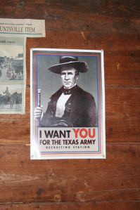 A modern poster featuring Sam Houston.