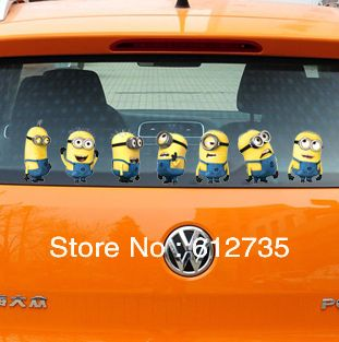 Lovely Despicable Me Minions Sticker Funny Car Stickers - Minion custom vinyl decals for car