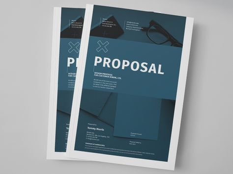 Design Proposal by Egotype on @creativemarket Brochure Templates - design proposal