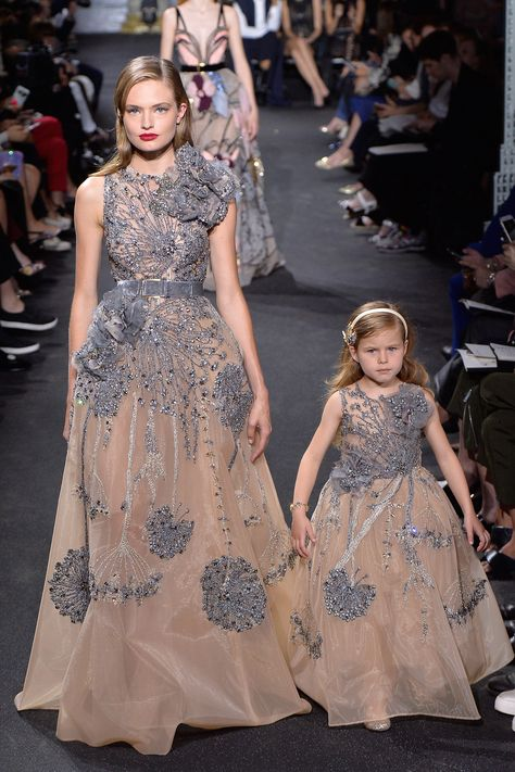 There are Elie Saab fall-winter collection for mothers and daughters. Incredible and irresistible gowns Check others Elie Saab Couture collection on
