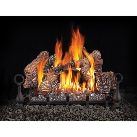 Fireplace Logs 8pc Arizona Weathered Oak For Front View