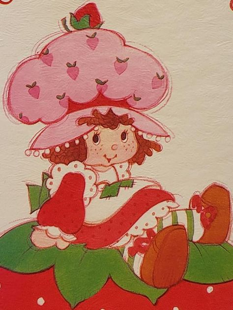 Your place to buy and sell all things handmade Strawberry Shortcake Cartoon, Strawberry Drawing, Bedroom Wall Collage, Photo Wall Collage, Picture Wall, Cartoon Wallpaper, Arte Sketchbook, Aesthetic Indie, Hippie Art