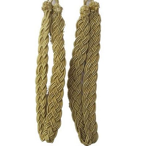 Vintiquewise Pair Of Gold Rope Curtain Tie Back Rope Curtain Tie